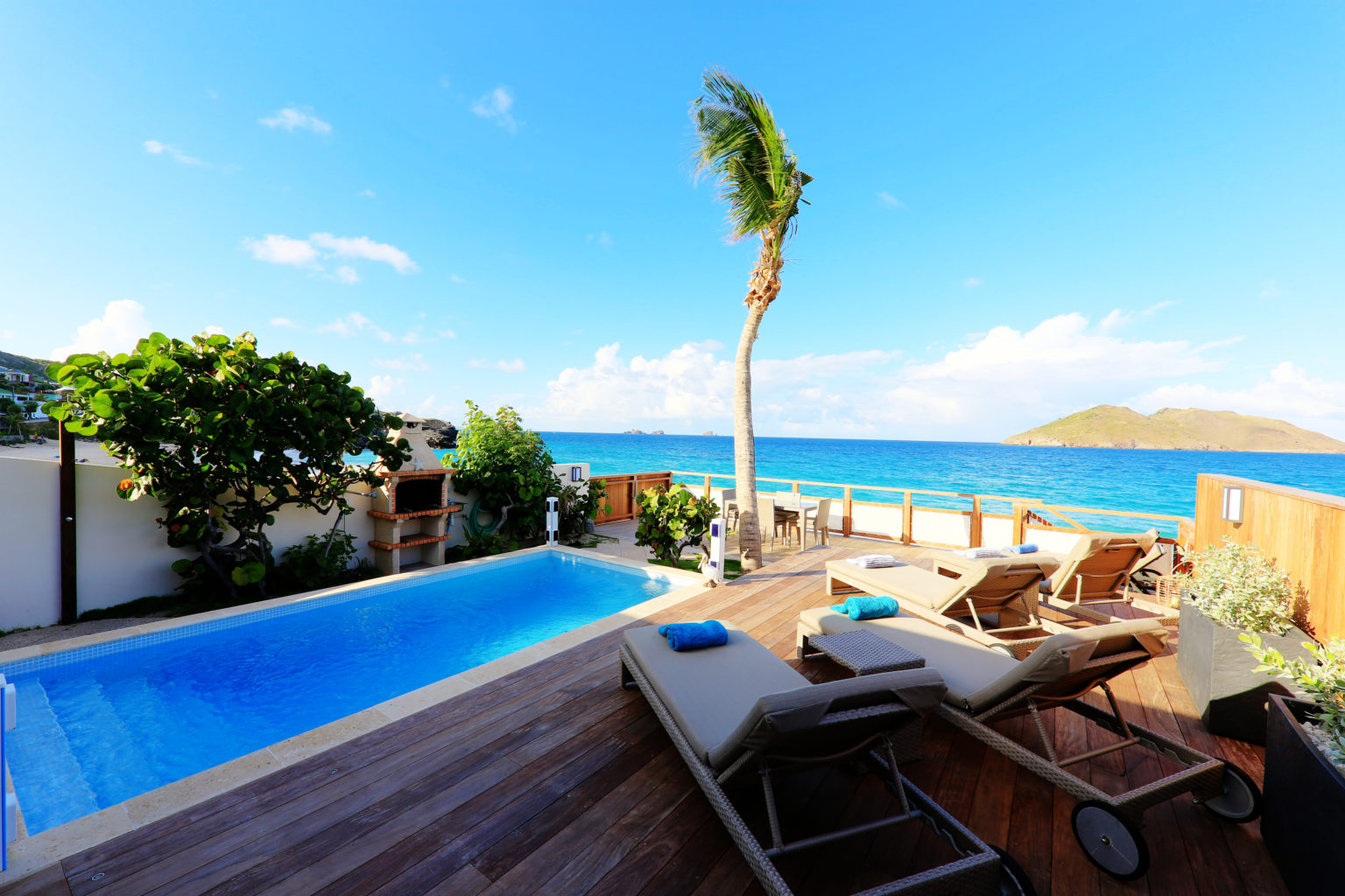 Villa Les Raisiniers - Beachfront Villa for Rent St Barth with Pool - Ocean View