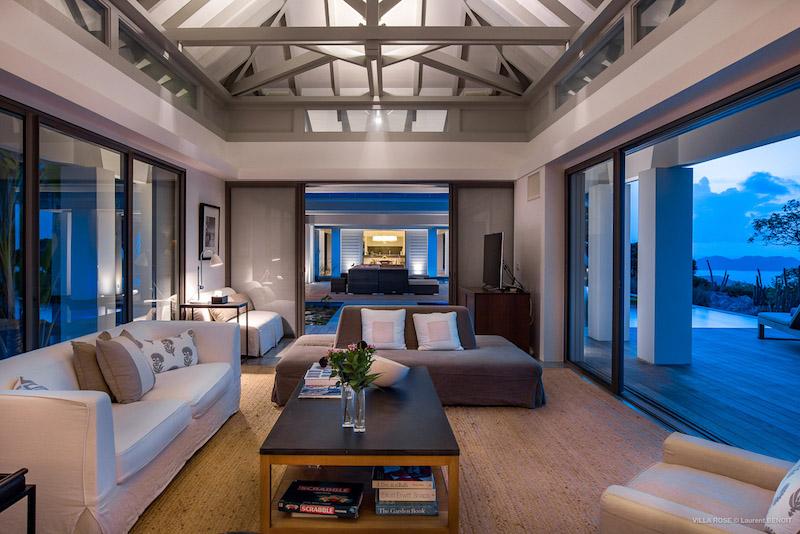 Villa Rose - Hillside Villa for Rent St Barth with Breakfast Delivery - Living Area
