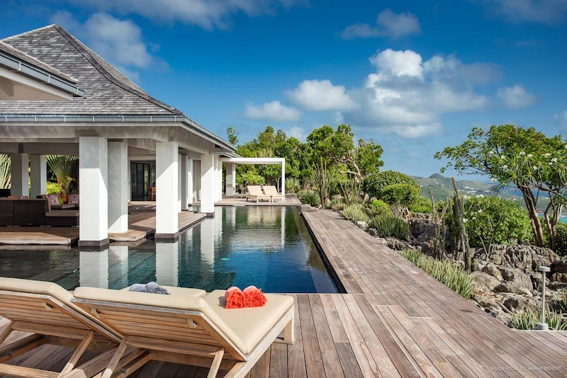Villa Rose - Hillside Villa for Rent St Barth with Breakfast Delivery - Pool