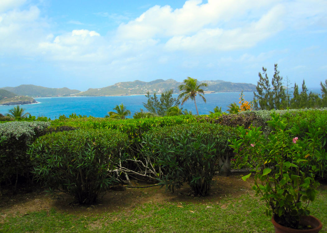 Lin pool garden - Old Villa Rental in Pointe Milou St Barth with Pool - Seaview