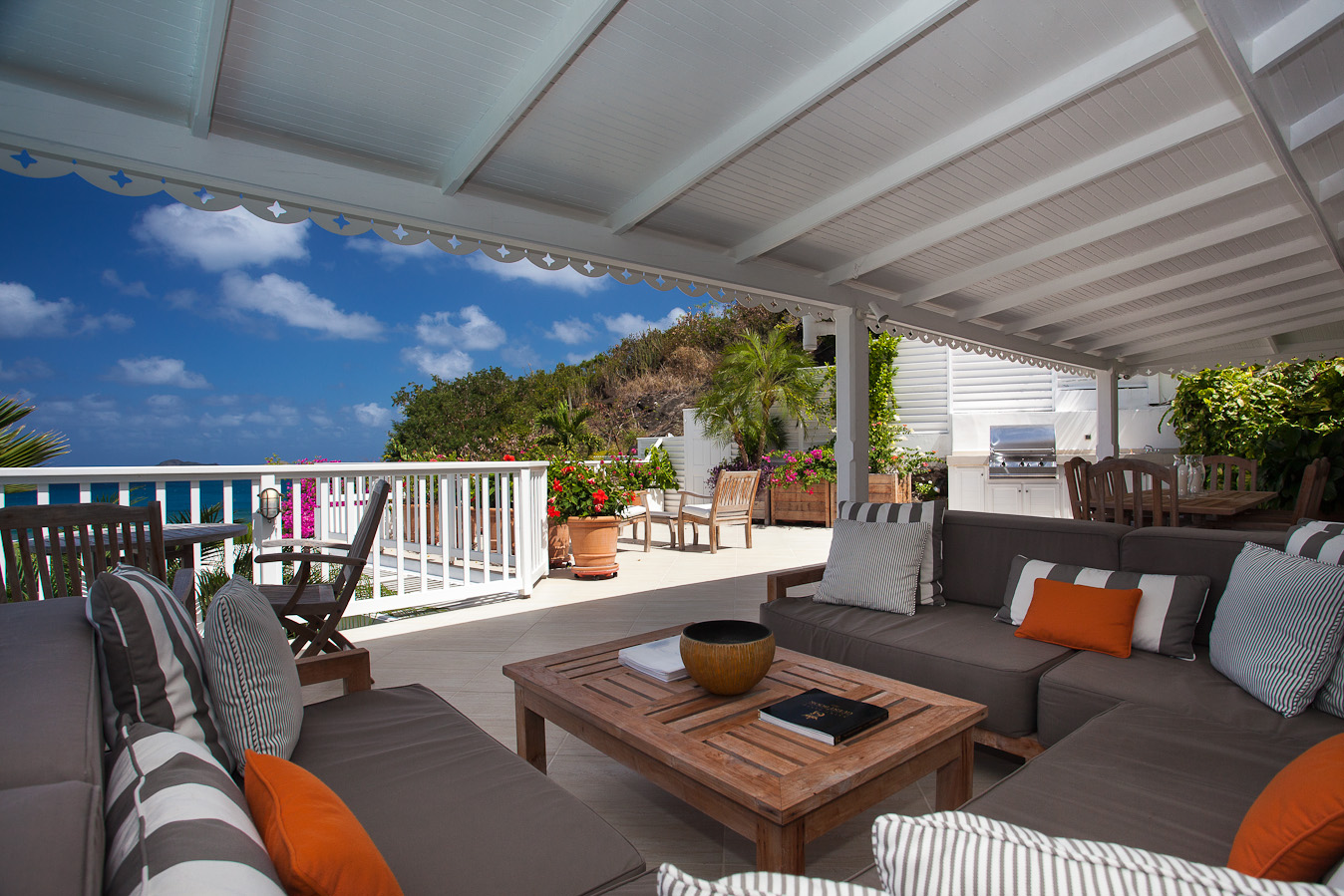 Villa Luz - Privacy Villa for Rent St Barth with Maid Service - Terrace