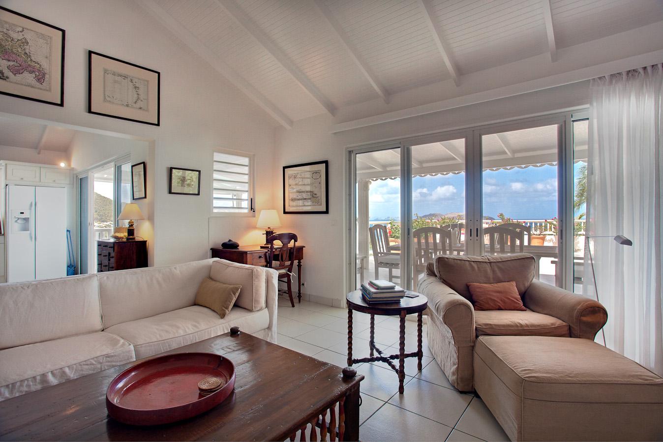 Villa Luz - Privacy Villa for Rent St Barth with Maid Service - Living room