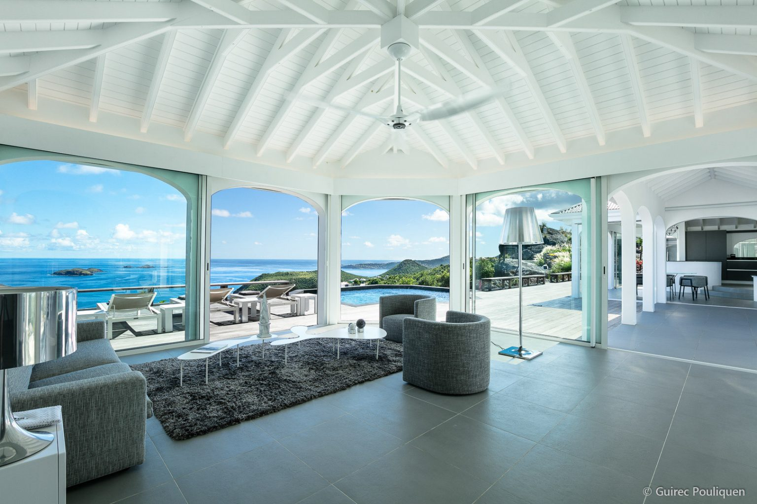 Villa Byzance - Sunset Villa for Rent on the Top of Colombier St Barth with Breakfast Delivery - Main Area