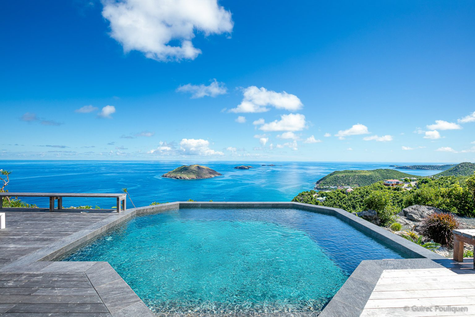 Villa Byzance - Sunset Villa for Rent on the Top of Colombier St Barth with Breakfast Delivery - Ocean View