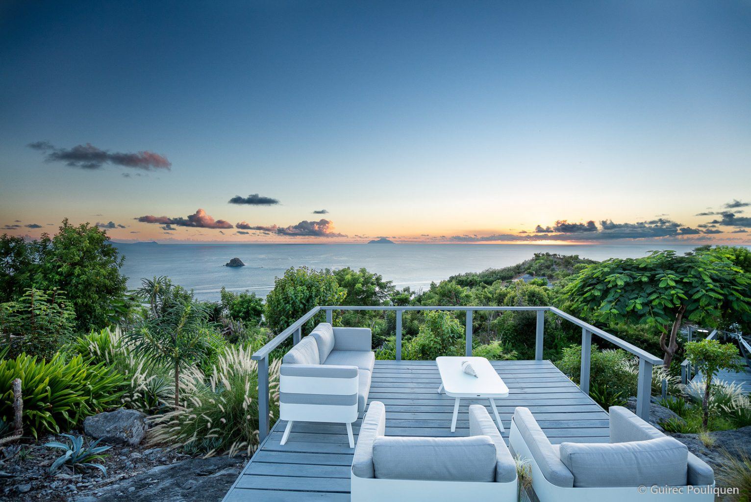 Villa Byzance - Sunset Villa for Rent on the Top of Colombier St Barth with Breakfast Delivery - Main AreaVilla Byzance - Sunset Villa for Rent on the Top of Colombier St Barth with Breakfast Delivery - Terrace