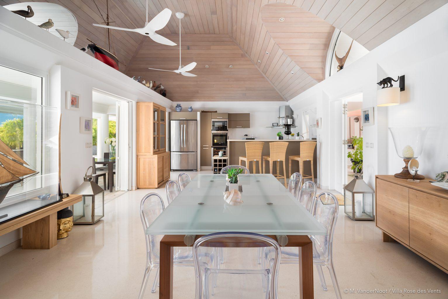 Villa Rose des Vents - Caribbean Villa Rental St Barth with Jacuzzi - Main Area