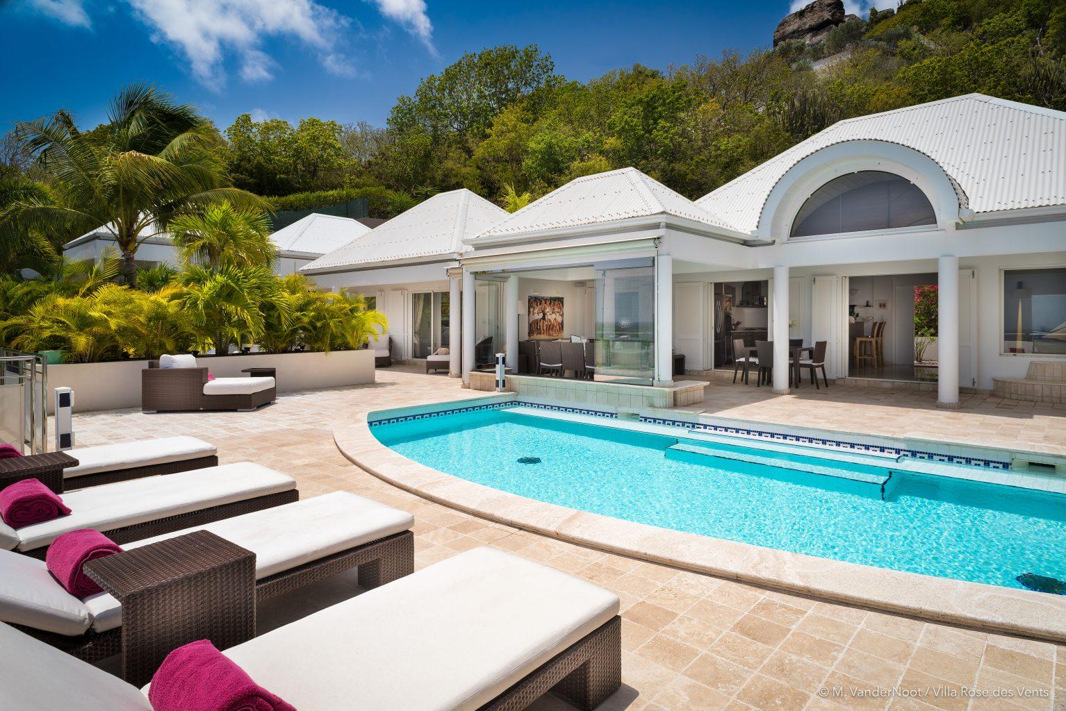 Villa Rose des Vents - Caribbean Villa Rental St Barth with Jacuzzi - Outside View