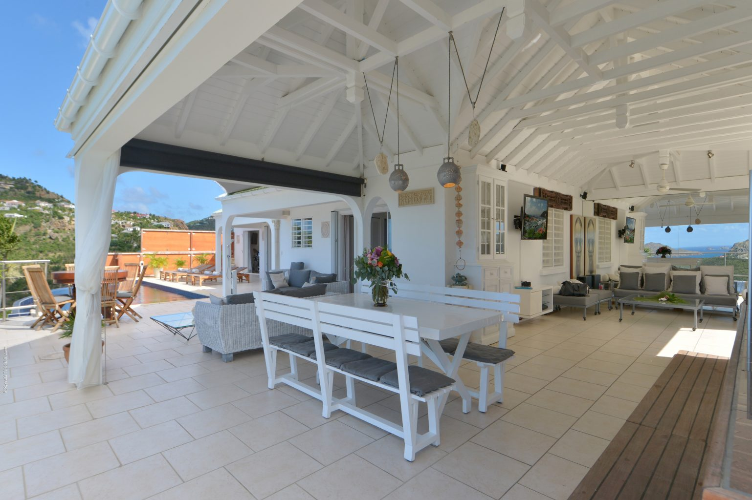 Villa Mystic - Seaview Villa for Rent St Barth with Panoramic View from Each Room - Main Area