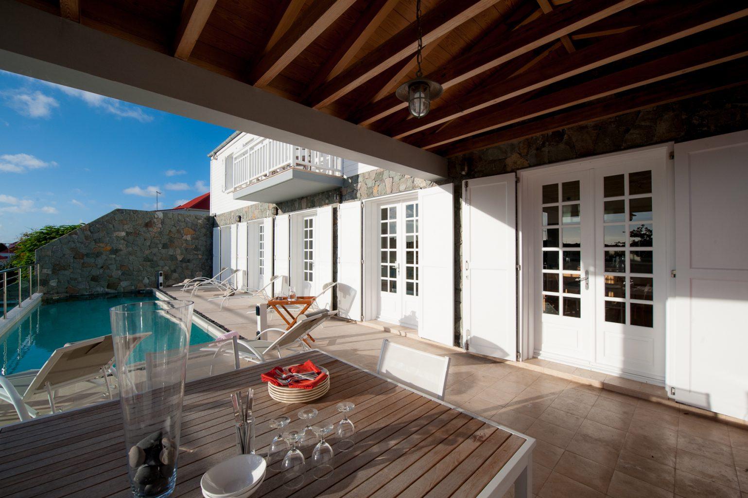 Villa Sur Le Port - Luxury Villa Rental in the Heart of Gustavia St Barth - Terrace