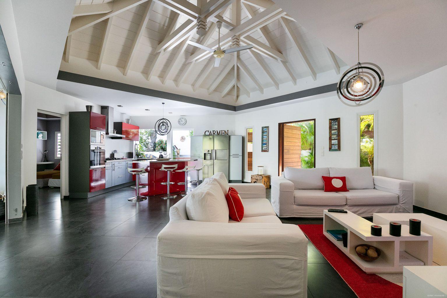 Villa Carmen - Child Friendly Villa for Rent St Barth Located in Vitet - Main Area