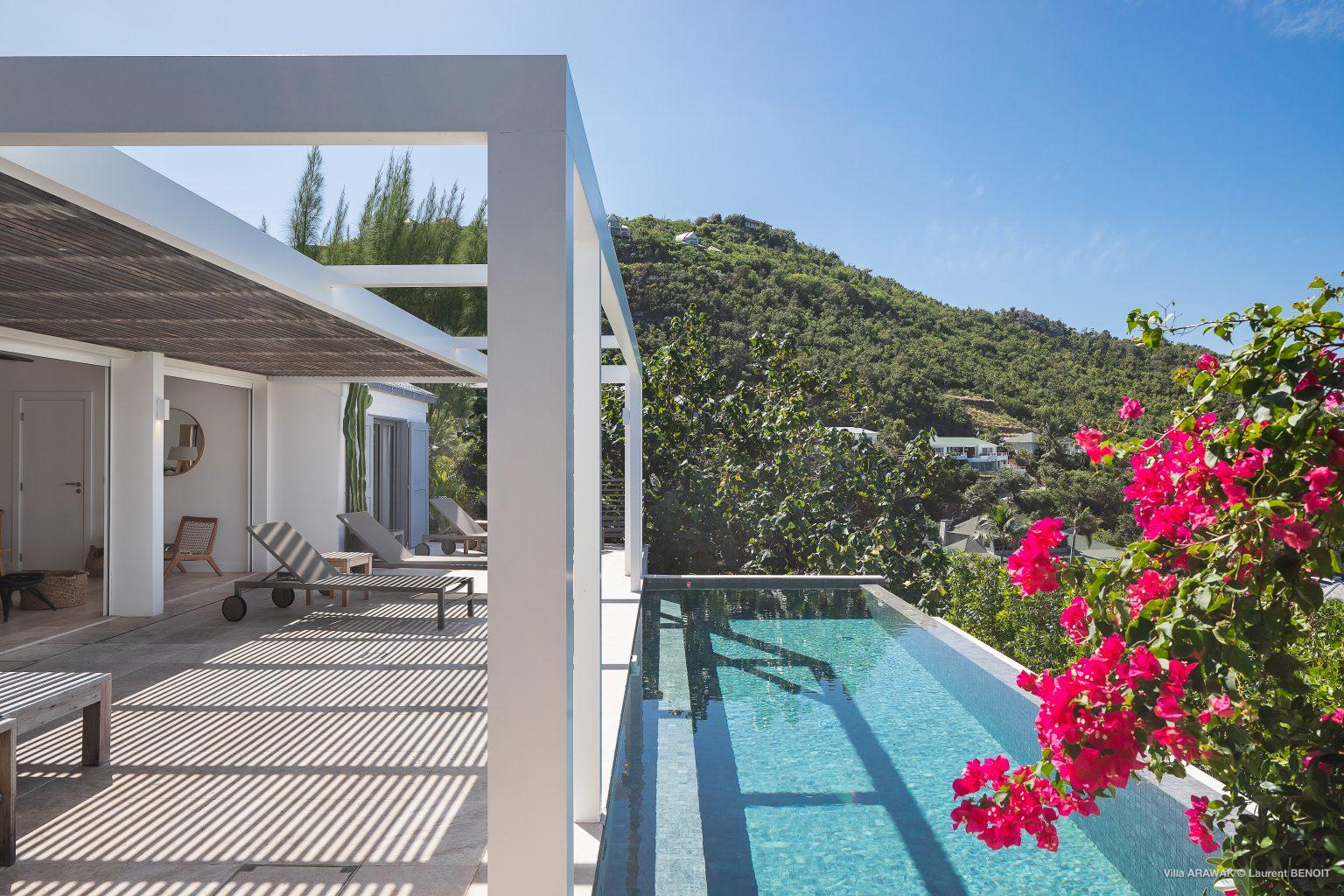 Villa Arawak - Modern and Elegant Villa for Rent St Barth Pointe Milou - Pool