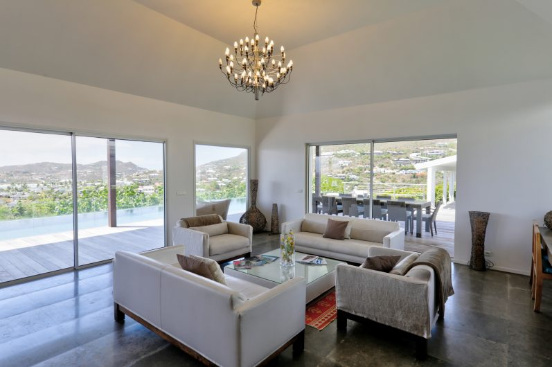 Villa AOM - Sunrise Villa for Rent St Barth with an Infinity Heated Pool - Living room