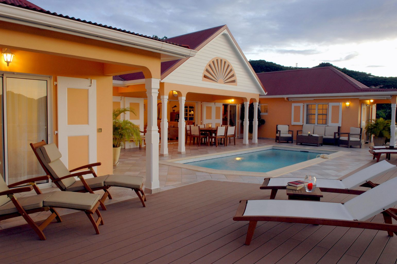 Villa Les Acajous - Seaview Villa for Rent a Short Drive Away from the Beach, Shops and Restaurants - Outside View