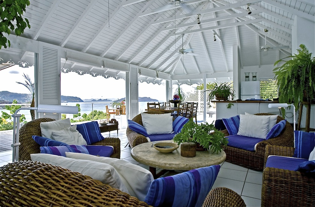 Lorient Sunset - Open Villa for Rent St Barth with a Large Terrace Perfect for Honeymooners - Living room
