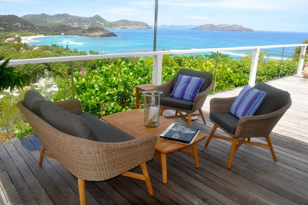 Lorient Sunset - Open Villa for Rent St Barth with a Large Terrace Perfect for Honeymooners - Terrace