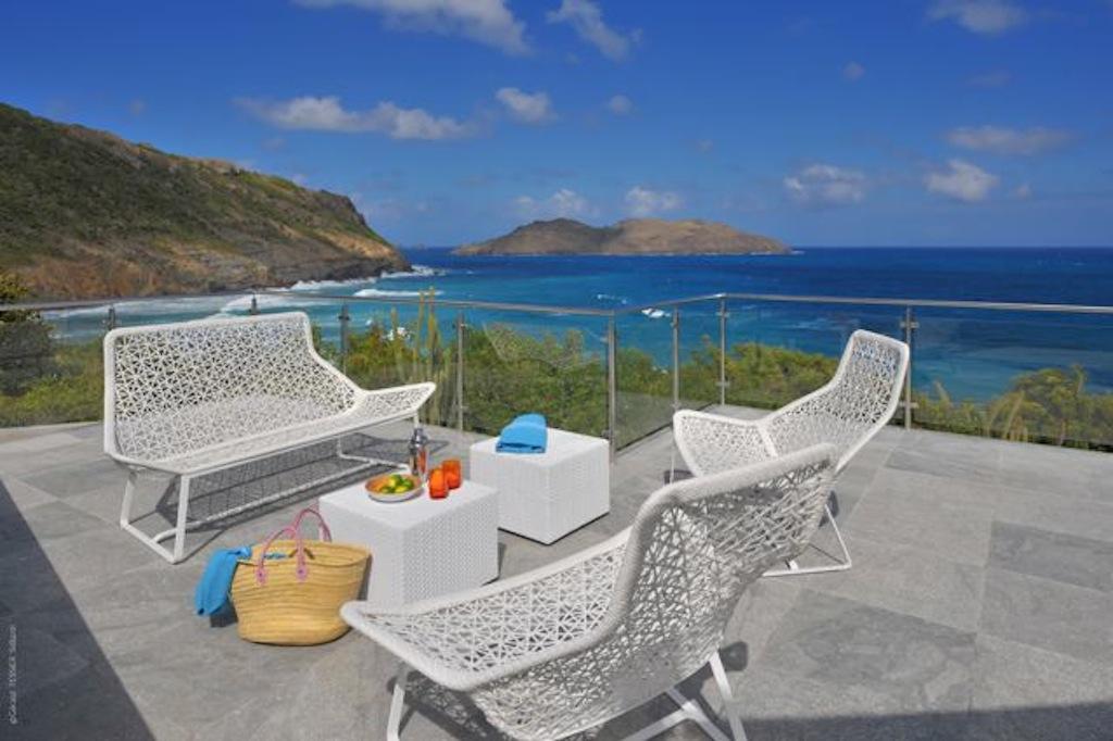 Villa Eranos - Breezy Villa on Two Levels for Rent in St Barth Anse des Lezards - Terrace