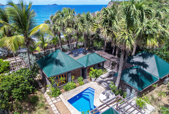 Villa Palm House - Typical Creole House for Rent St Barth Ideal for Family with Children - Aerial View