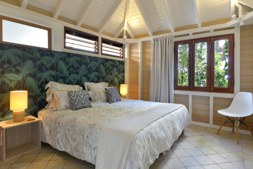 Villa Palm House - Typical Creole House for Rent St Barth Ideal for Family with Children - Bedroom