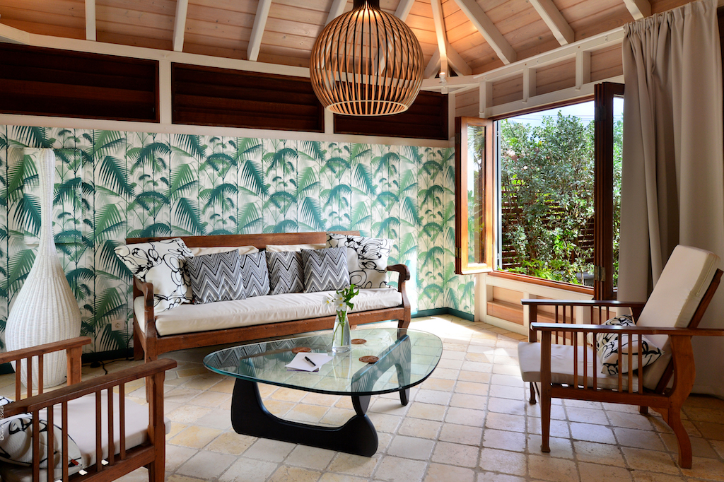 Villa Palm House - Typical Creole House for Rent St Barth Ideal for Family with Children - Living room