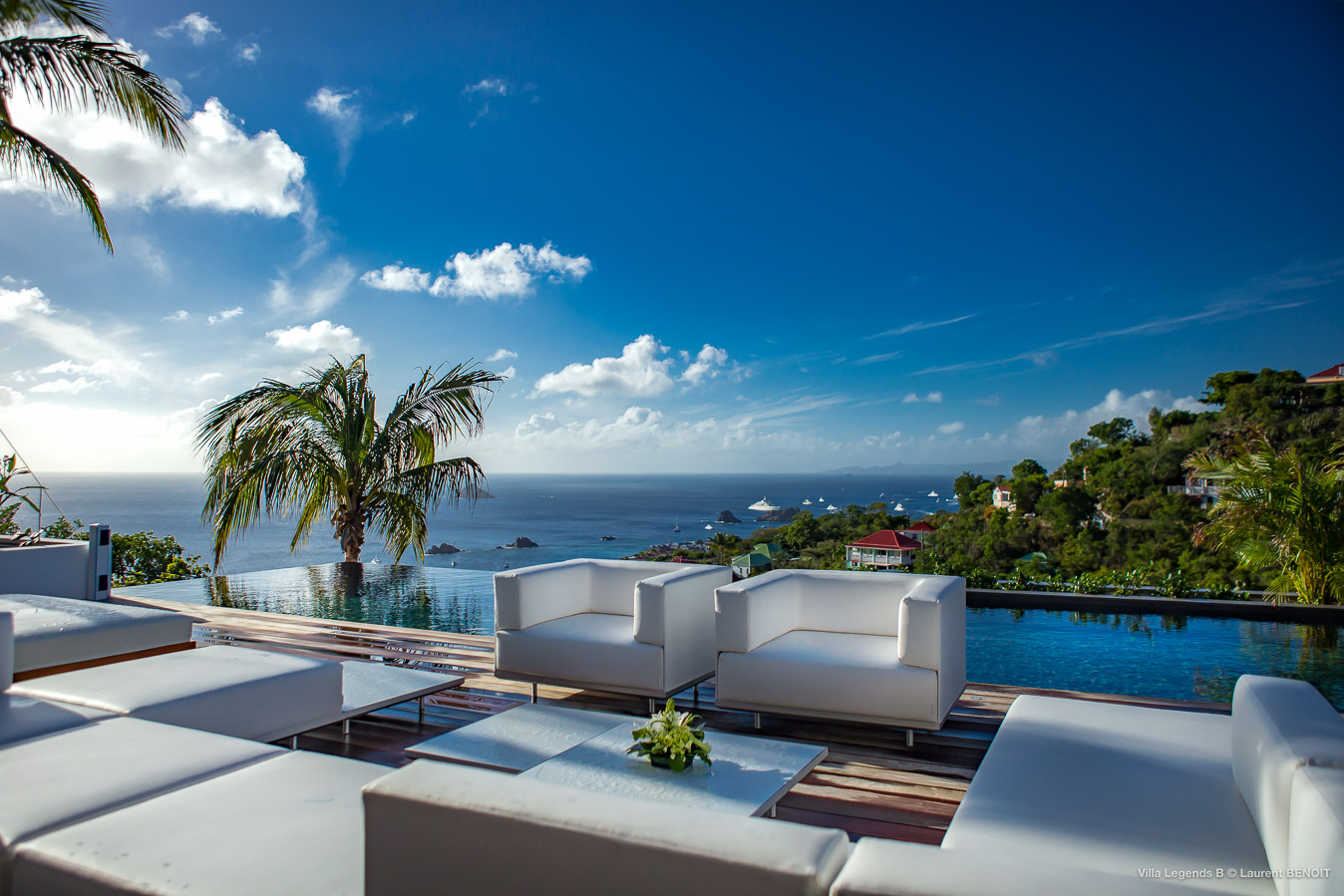 Villa Legend B - Contemporary Villa for Rent with Full Air Conditioning St Barth Lutin - Terrace