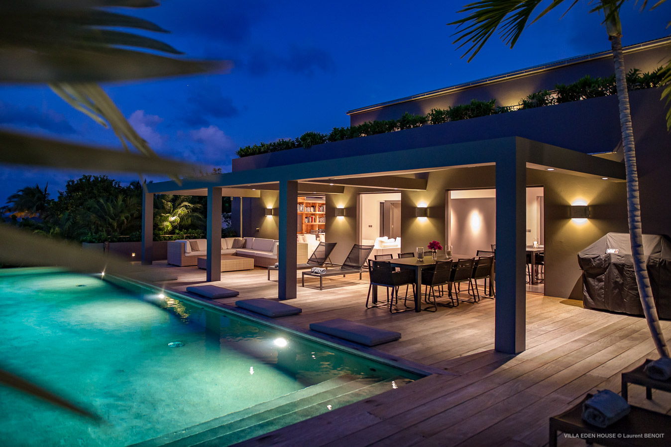 Villa Eden House - Fresh and Modern Property for Rent for a Group Holiday in St Barth Marigot - Outside View