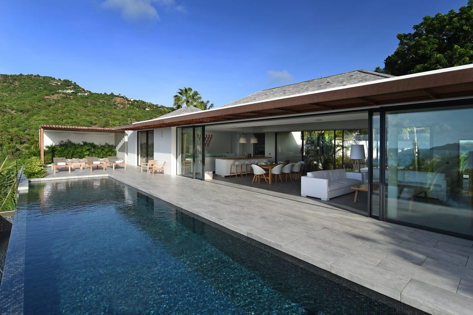 Villa Varuna - Modern and Elegant Villa Rental St Barth St Jean with Heated Pool - Outside View