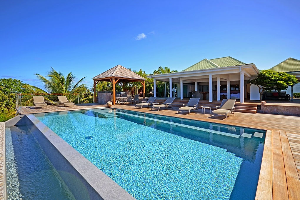 Villa Air du Temps - Sunset Villa For Rent St Barth Close to Gustavia - Outside View