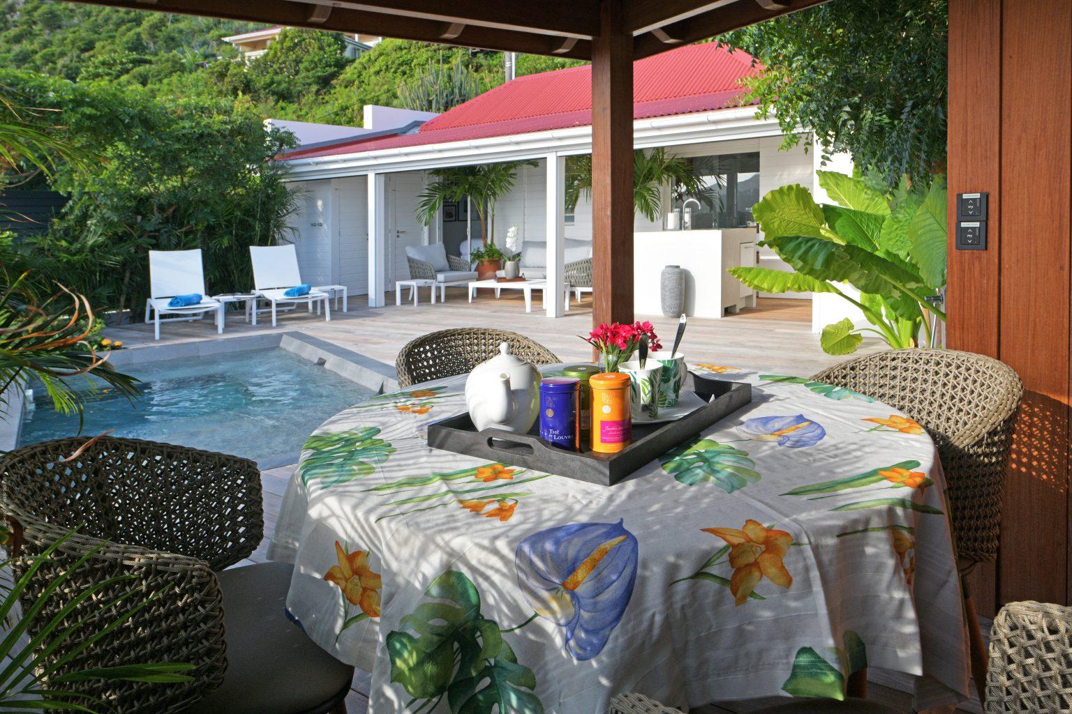 Villa Silhouette - Small Villa Rental St Barth Anse de Cayes Ocean View - Outside view