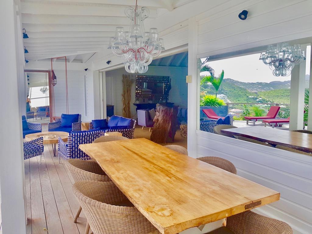 Villa Micalao - Charming Creole Villa Rental St Barth Sea View - Main Area