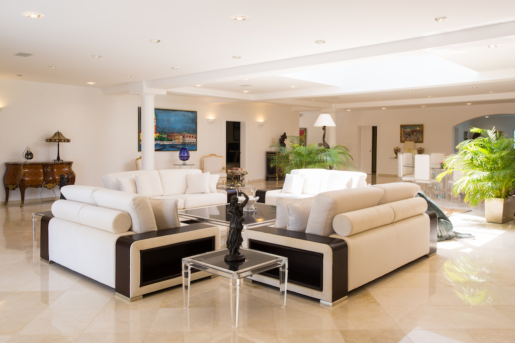 Villa Good News - Luxurious Villa Rental St Barth Sea view - Living room