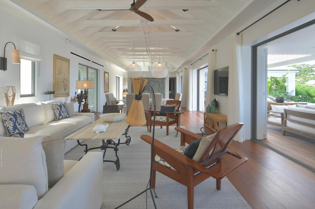 Villa La Romance - Modern Villa Rental St Barth Sea view - Living room