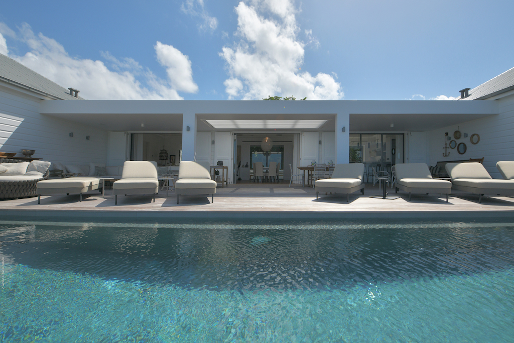 View on pool and villa