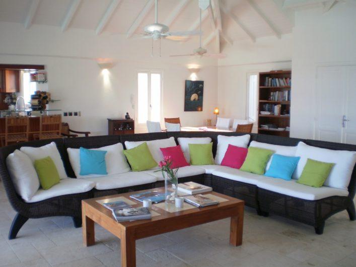 Villa Gouverneur View - Villa Rental St Barth Gouverneur Beach View - Living room