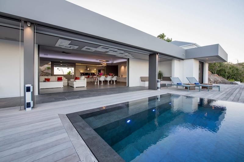 Villa Amethyste - Modern Villa Rental St Barth Sea view - Outside view