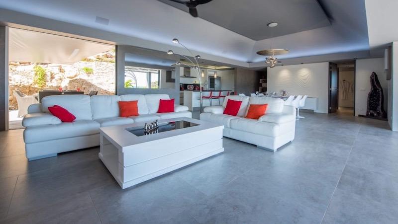 Villa Amethyste - Modern Villa Rental St Barth Sea view - Living room
