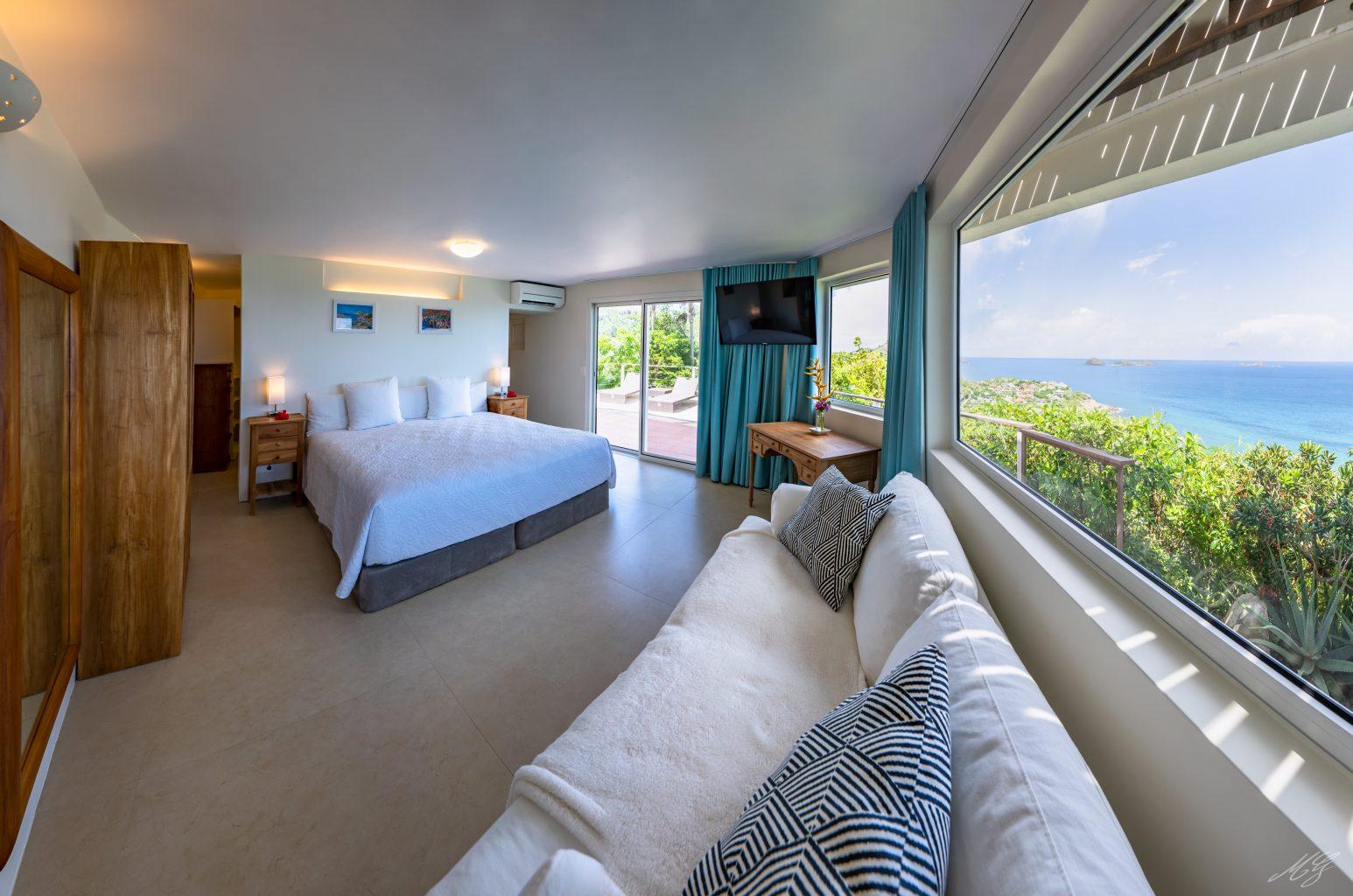 Villa Gaillac - Creole Villa Rental St Barth Sea View - Bedroom