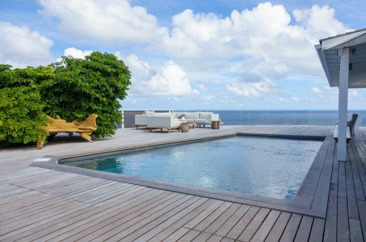 Villa Gaillac - Creole Villa Rental St Barth Sea View - Swimming pool