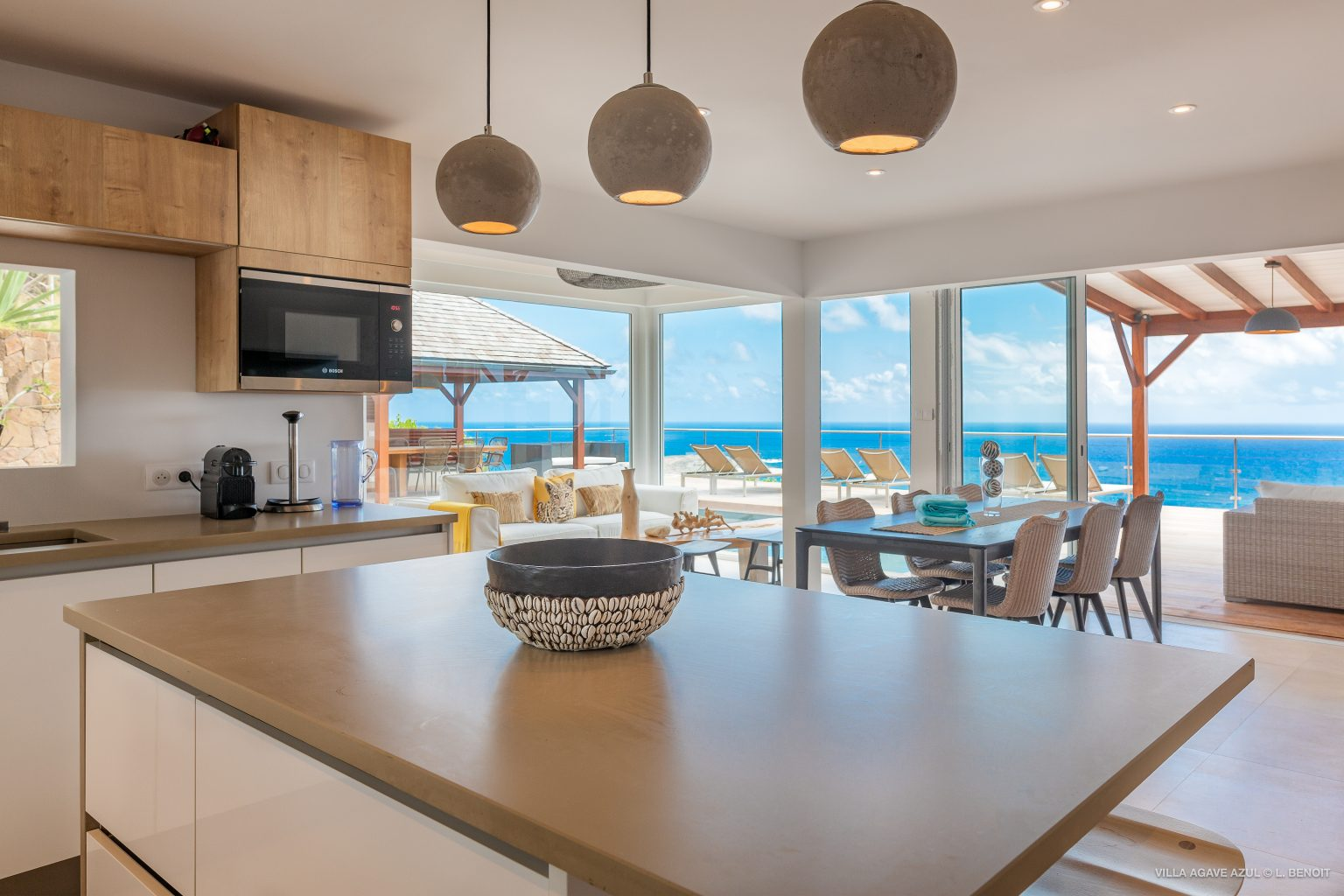 Villa Agave Azul - Villa Rental Lagoon of Grand Cul de Sac and Ocean view - Indoor