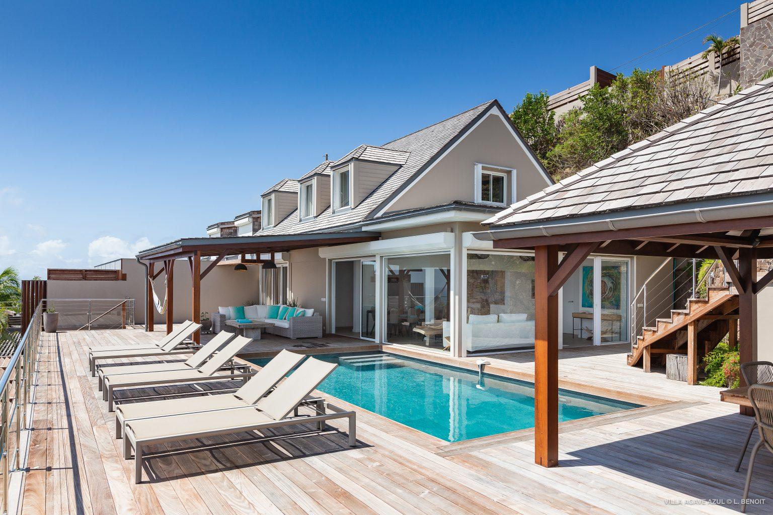 Villa Agave Azul - Villa Rental Lagoon of Grand Cul de Sac and Ocean view - Outside view