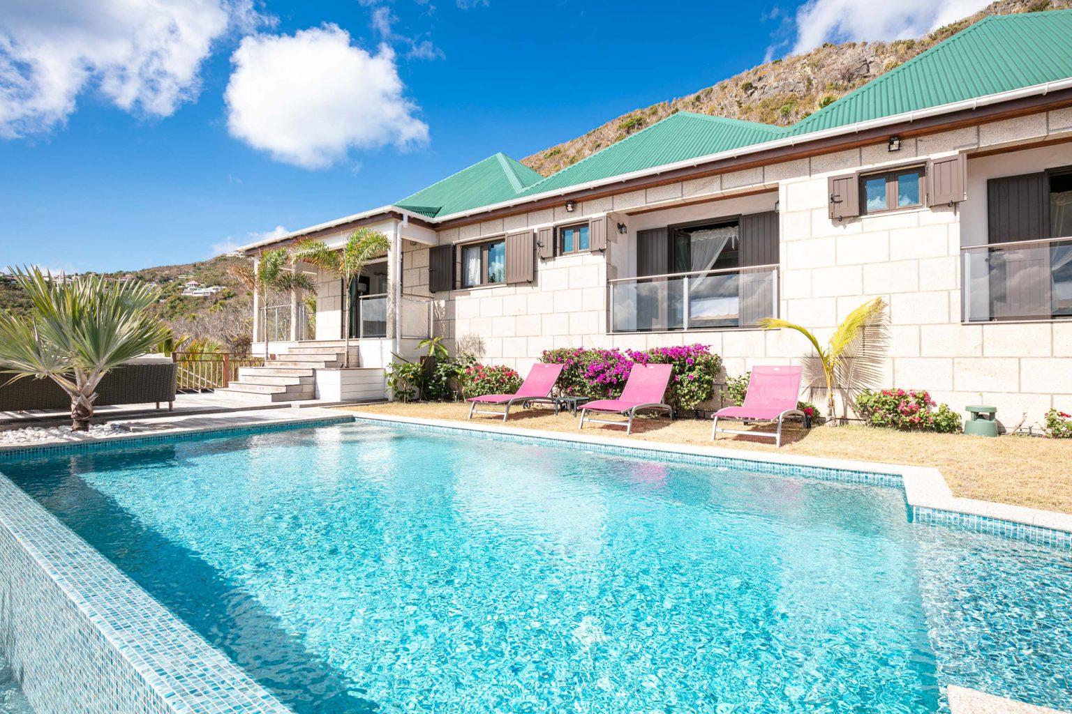 Villa Estrela - Flamands Villa Rental St Barth Sea view - Outside view