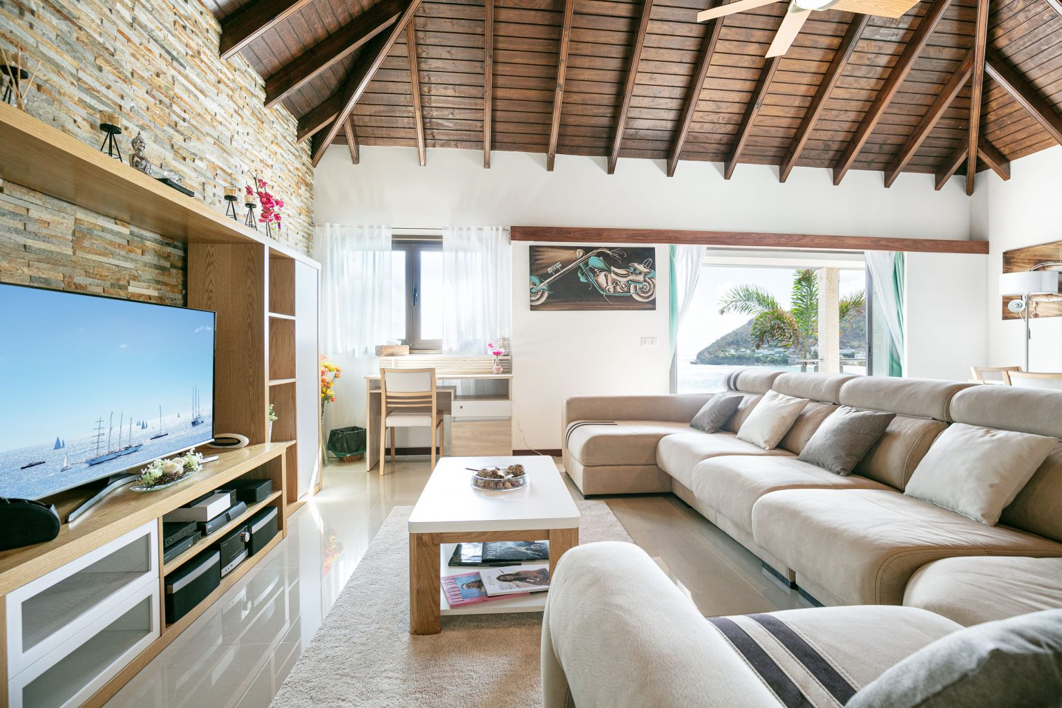 Villa Estrela - Flamands Villa Rental St Barth Sea view - Living room