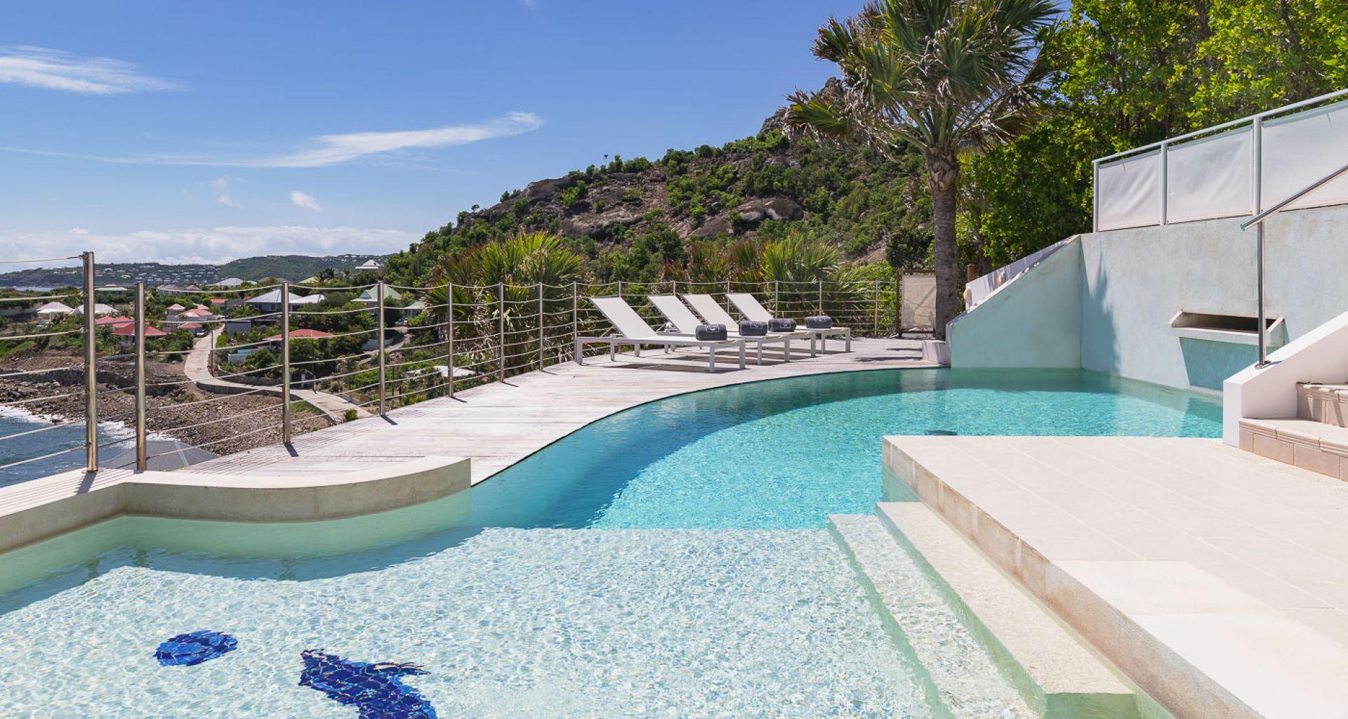 Villa Lo Scoglio - villa rental St Barth with Jacuzzi - swimming pool