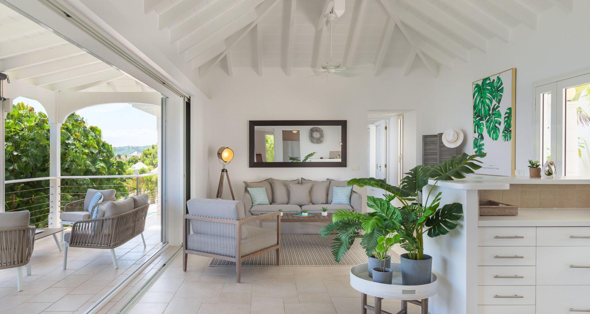 Villa Lo Scoglio - villa rental St Barth with Jacuzzi - Living room