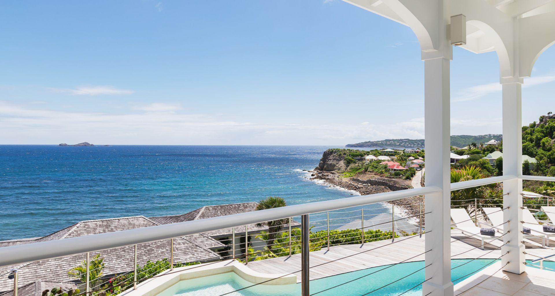 Villa Lo Scoglio - villa rental St Barth with Jacuzzi - pool view