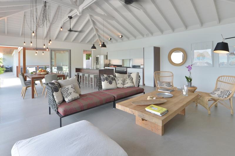 Villa Pelican - Modern Villa Rental St Barth Sea view - Living room