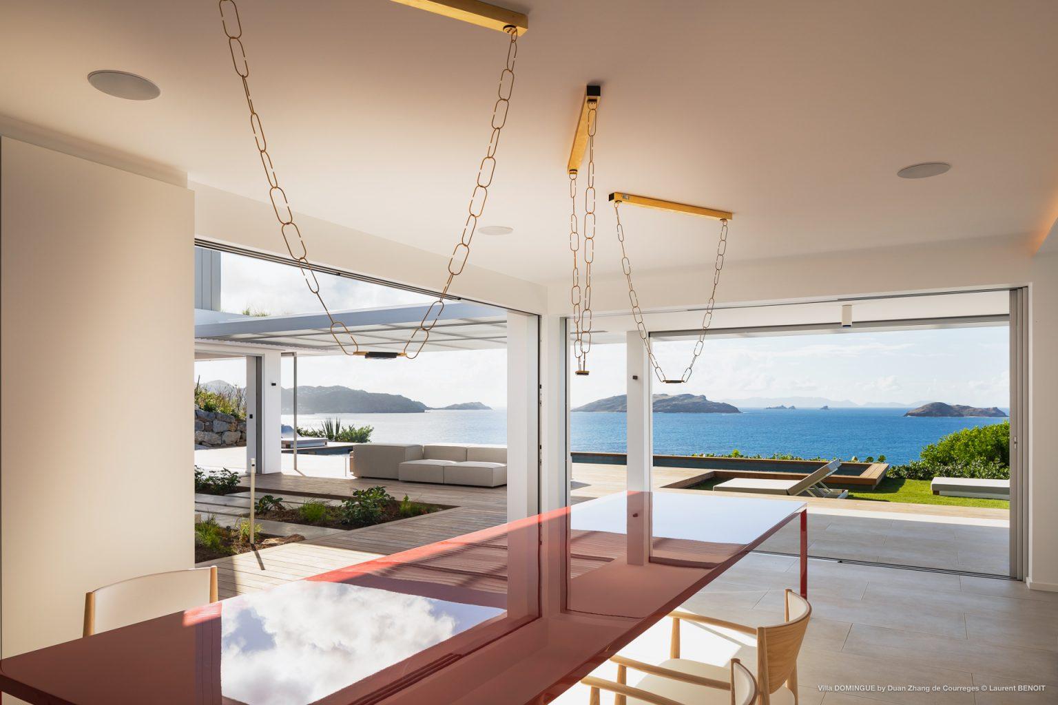 Villa Domingue - Modern Villa Rental St Barth Seaview - Living Room