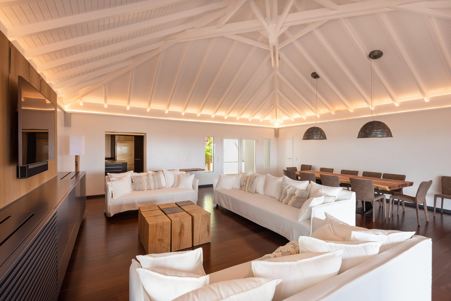 Villa Jable - Two Floors Villa for Rent St Barth Sea view - Living room