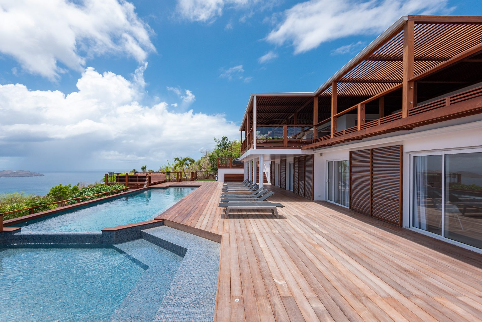 Villa Jable - Two Floors Villa for Rent St Barth Sea view - Outside view
