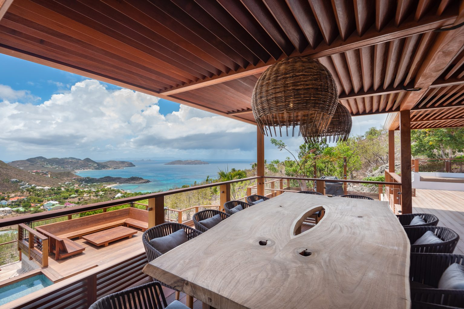 Villa Jable - Two Floors Villa for Rent St Barth Sea view - Dining with sea view