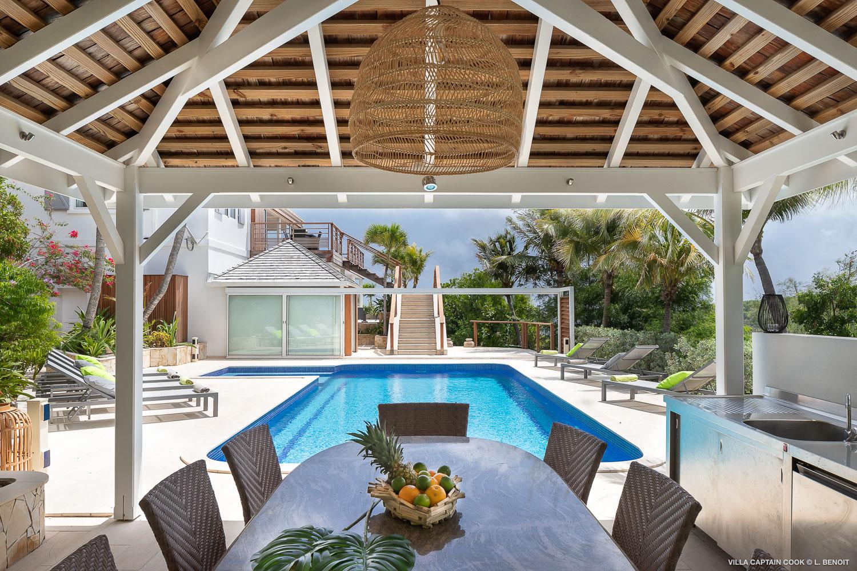 Villa Captain Cook - Peaceful Villa Rental St Barth Seaview - Swimming pool